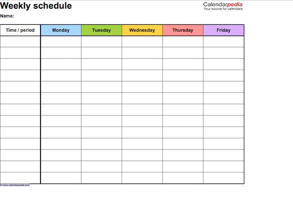 17 Perfect Daily Work Schedule Templates Template Lab