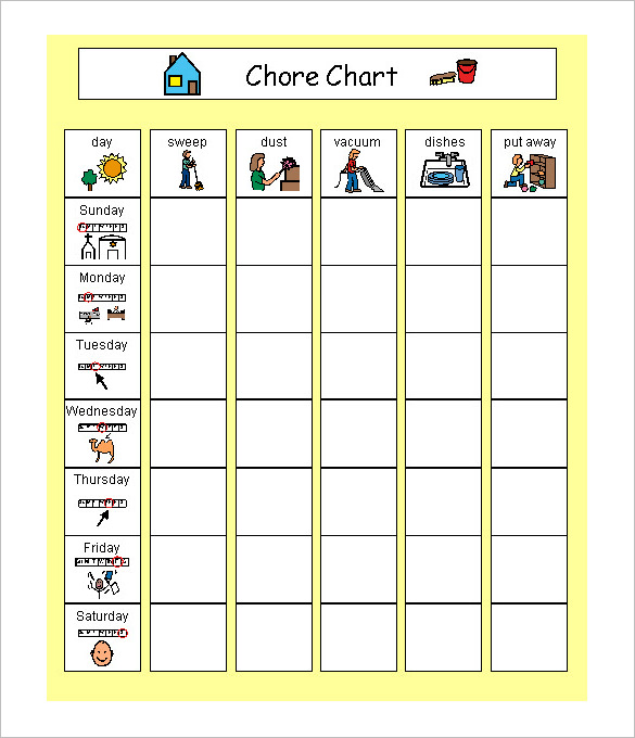 Schedule Chart Template