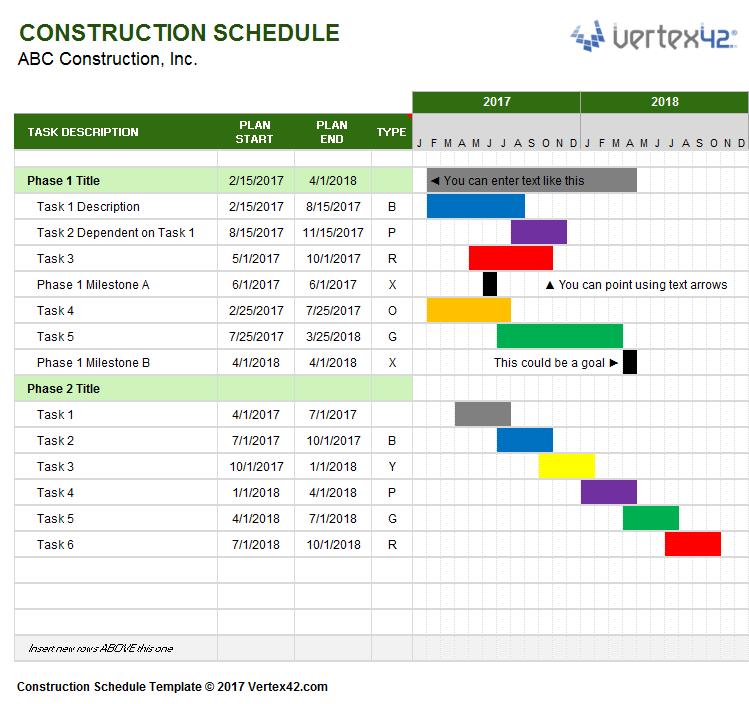 Schedule Format Excel