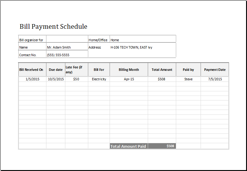 16+ Payment Schedule Templates Word, Excel, PDF   Free & Premium