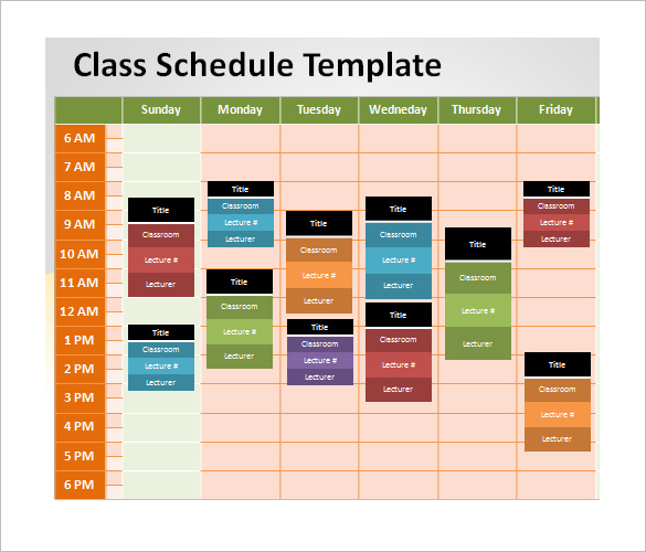 Schedule Powerpoint Template
