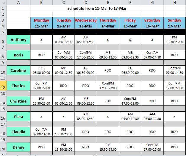 roster schedule Londa.britishcollege.co