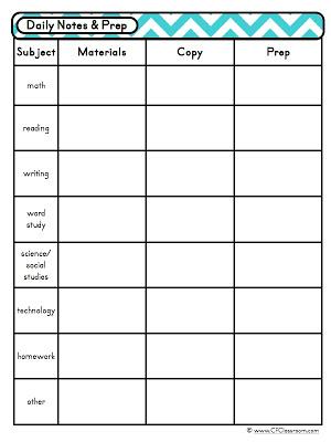 Day at a Glance Editable Lesson Planner {Teacher Organization Tool
