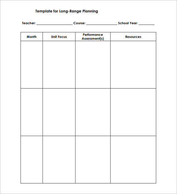 Schedule Template For Teachers