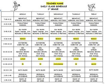 teacher schedule Londa.britishcollege.co