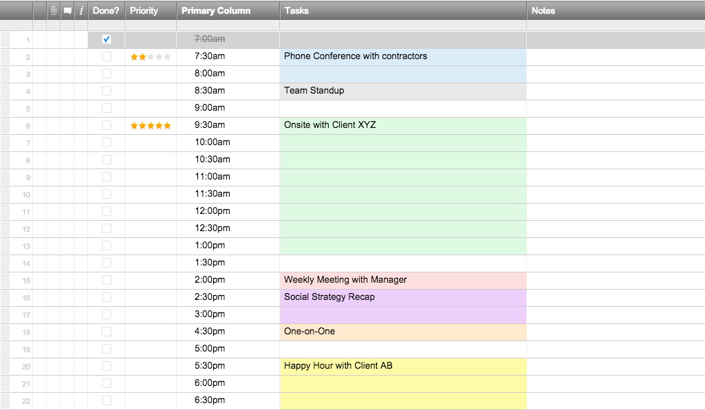 Schedule Template Maker