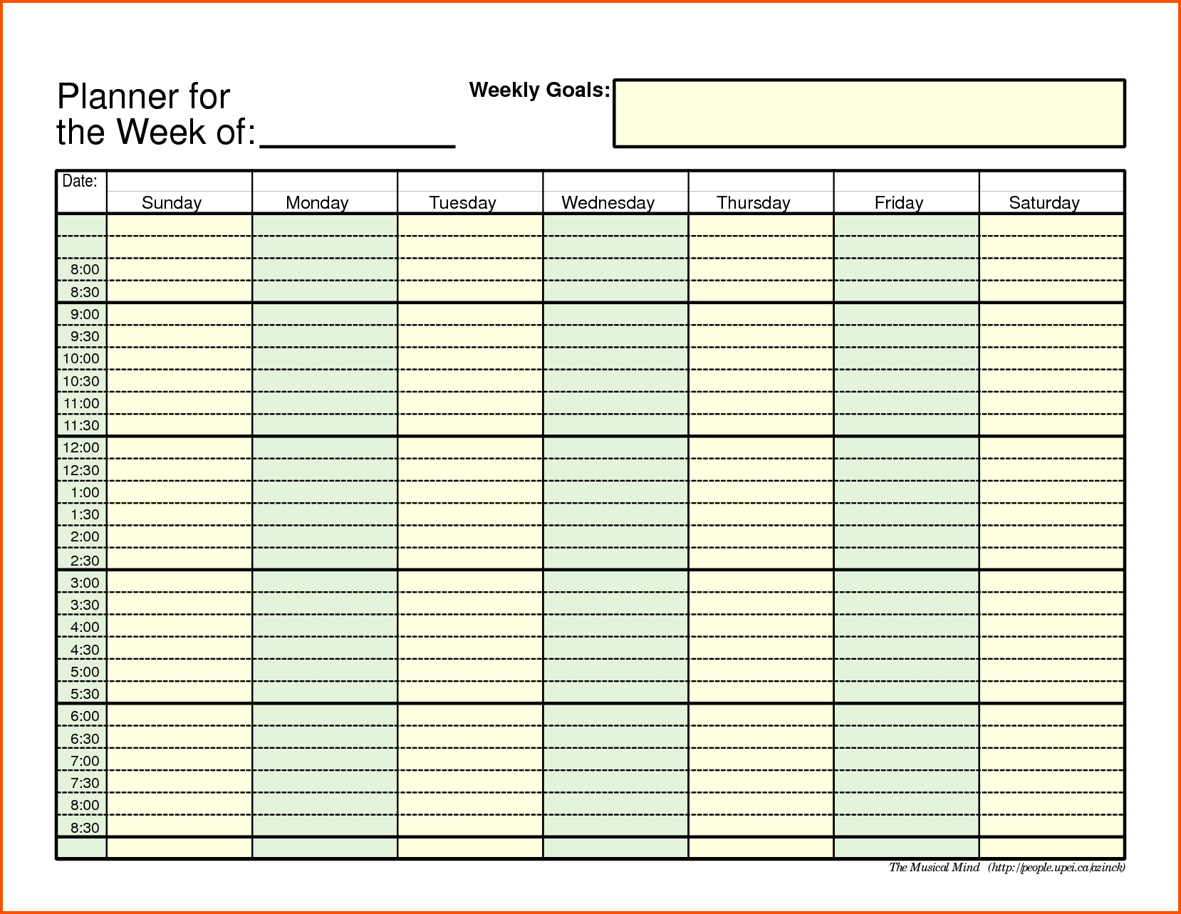 11+ weekly schedule template pdf   Survey Template Words