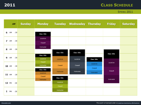 schedule template powerpoint schedule template powerpoint casseh