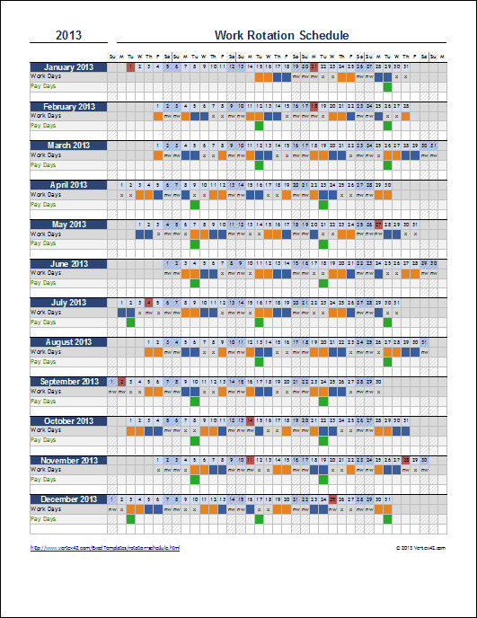 Free Rotation Schedule Template