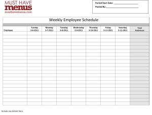 work schedule sample Londa.britishcollege.co