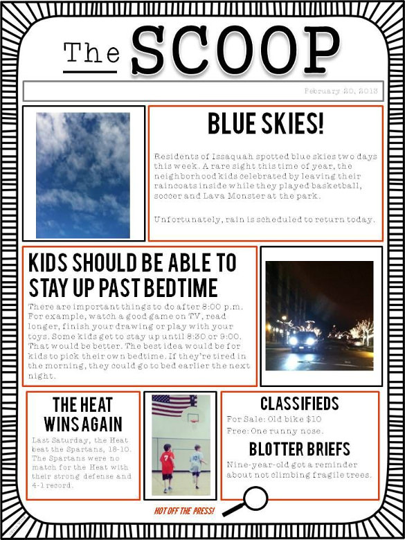 Template For School Newspaper