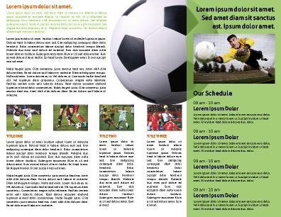 Sports Program Templates   PageProdigy – Print for $1