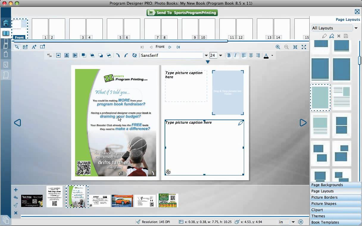 Sports Program Printing Using Page Templates YouTube