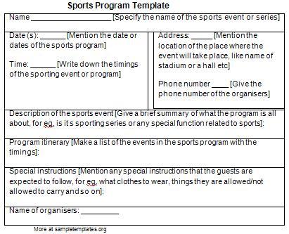 sports program templates Londa.britishcollege.co