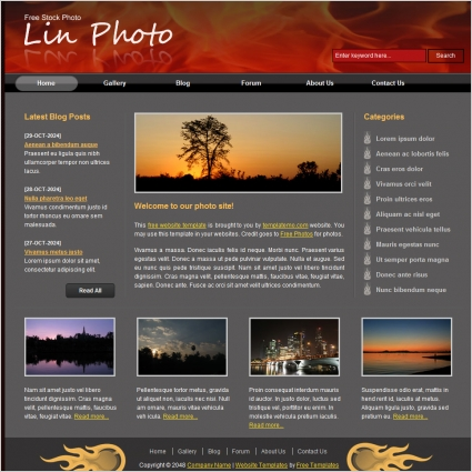 Free Download Html Website Templates Free Website Templates For