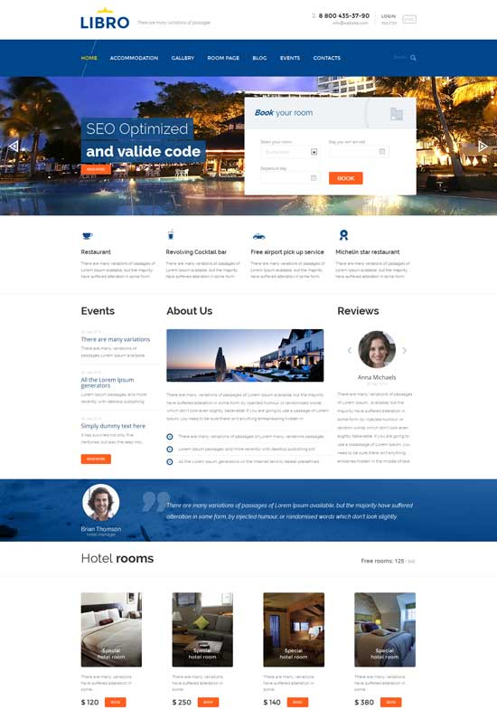 70+ Best Hotel Website Templates Free & Premium freshDesignweb