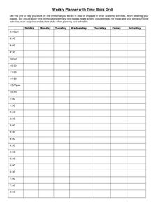 Lesson plan calendar template free time blocking block schedule.