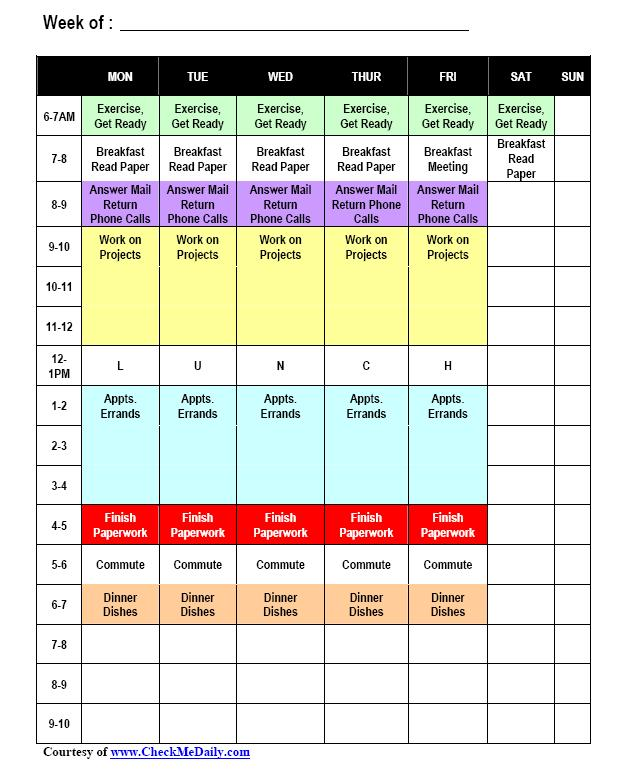 time block schedule template