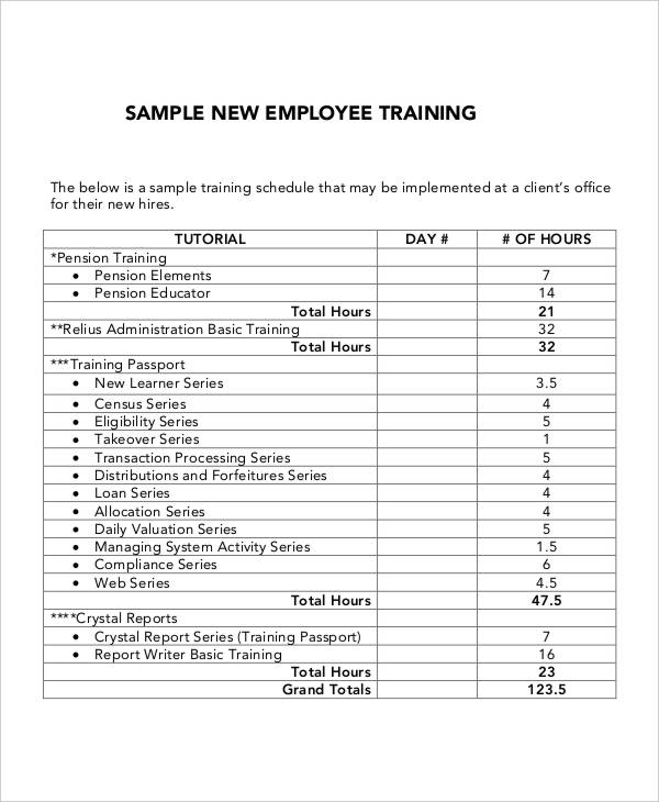 5 Employee Training Plan Templates Free Samples Examples Format