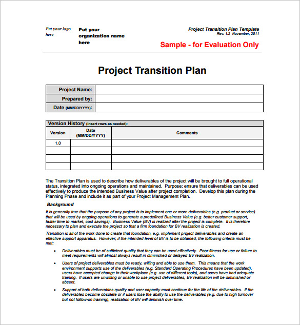 Project Plan Template 23+ Free Word, Excel, PDF Format Download