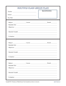 Unit Plan Template For Secondary Teachers