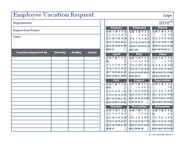 Employee Vacation Schedule Template Asafonggecco Vacation Calendar