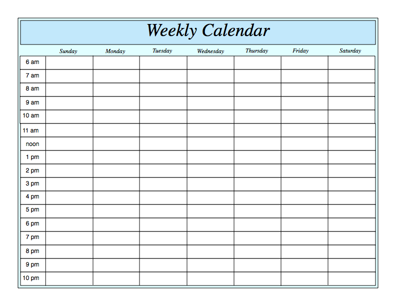 Printable Weekly Schedule Template Sample For Girl : V m d.com
