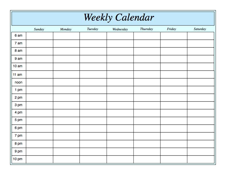 24 Hour Template. weekly schedule template printable week schedule