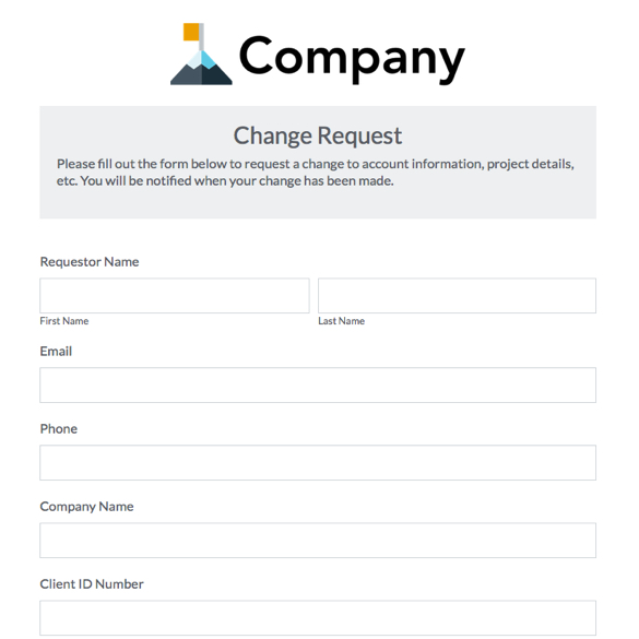 Work Schedule Change Request Form Template
