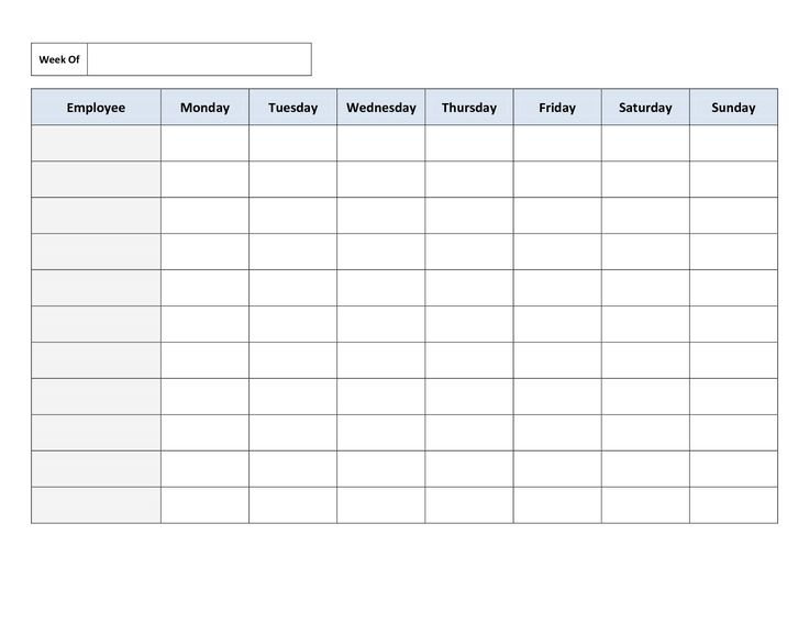Work Schedule Template Weekly Employee Shift Schedule Templatelate