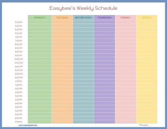Work Schedule Template Google Docs