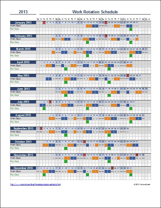 2013 Calendar Excel 11 free printable templates (xls/xlsx)