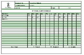 Internal Audit Schedule Sample Templates Buy Sample Templates