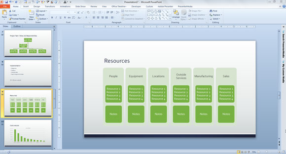 project presentation template free download powerpoint planning