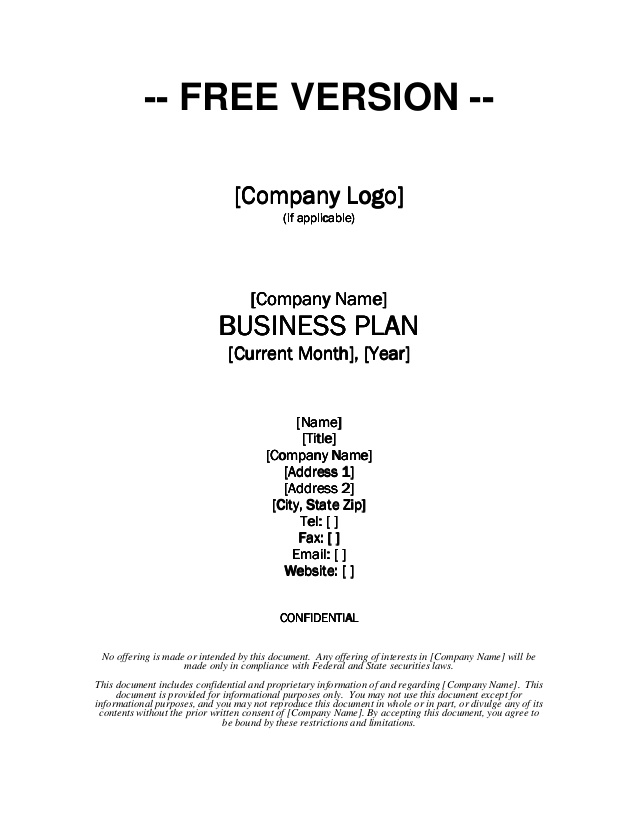 Business Plan Templates Free Download | Free Business Template