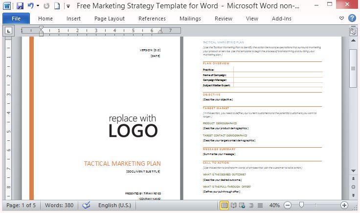 Business Marketing Templates Marketing Plan Outline Safero Adways