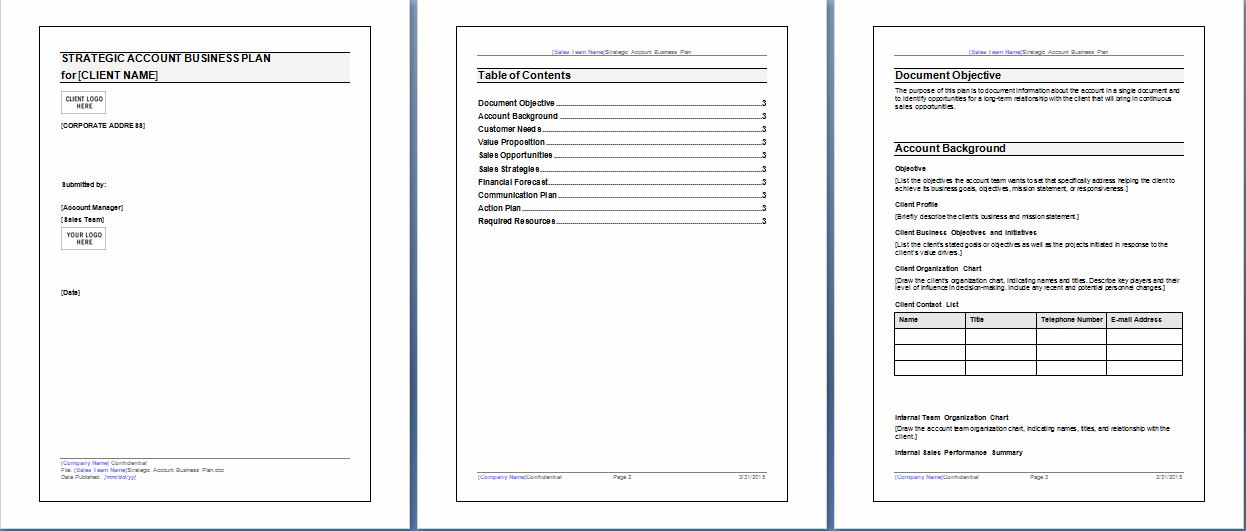 Microsoft Word and Excel 10 Business Plan Templates | Formal Word