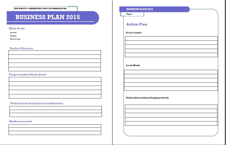 small business plan template small business plan templates free