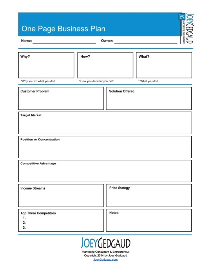 New business template