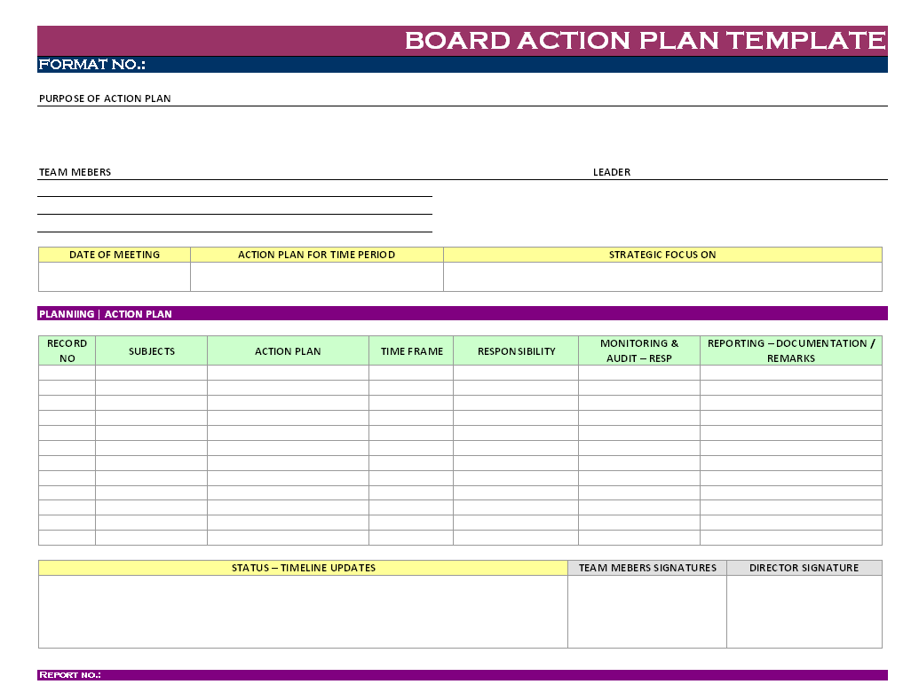 action plan sample template | news alwaled : news alwaled