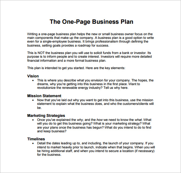 business plan template free pdf 9 business plan templates free