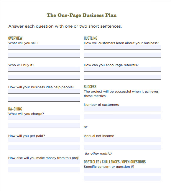 Business Plan Templates Free Download | Business form templates