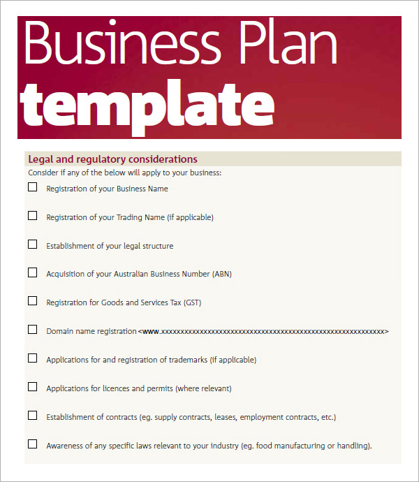 business plan templates pdf bussines plan template 17 download