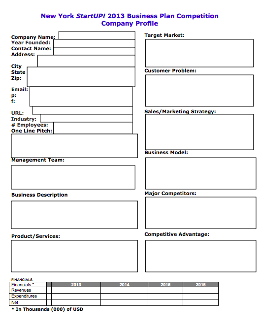 Free Simple Business Plan Template | Top Form Templates | Free