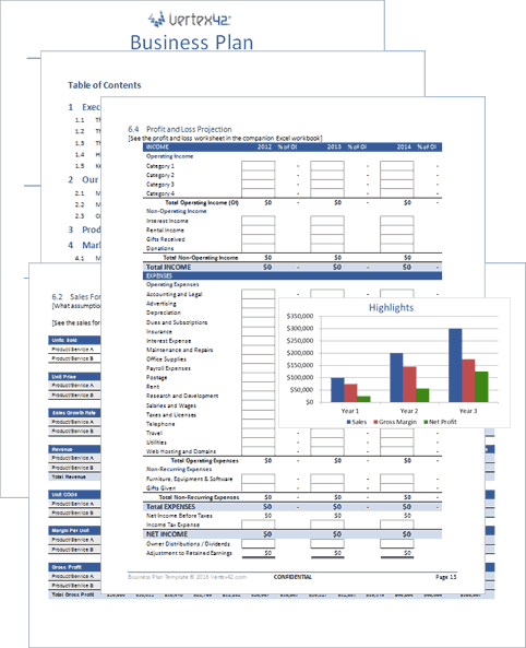 Free Business Plan Template for Word and Excel