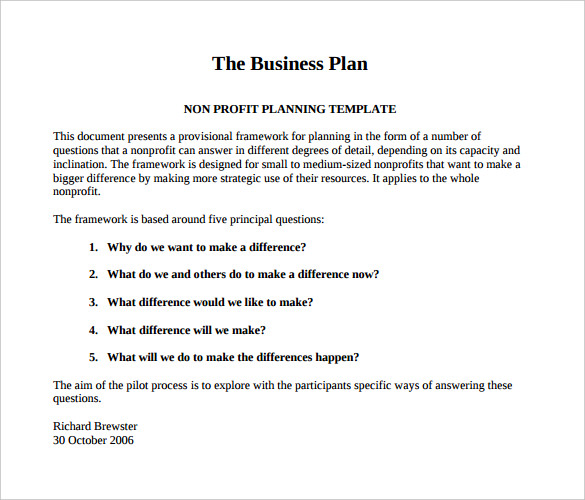 Business Plan Template Pdf Free Business Template – KukkoBlock