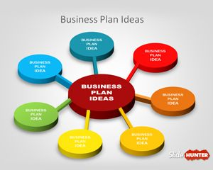 Free 3D Business Plan Diagram Idea for PowerPoint