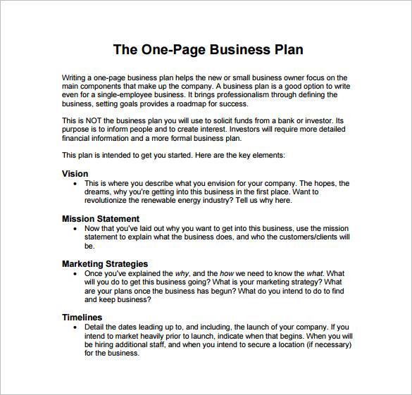 business plan template free pdf 9 business plan templates free