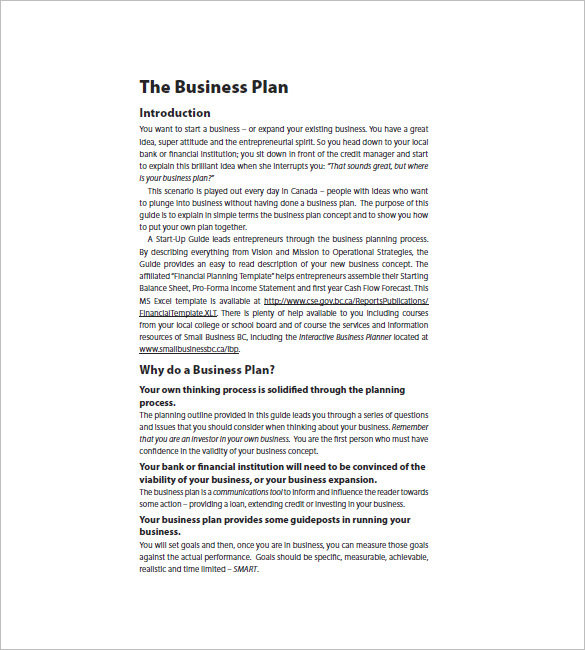 Startup Business Plan Template 17+ Free Word, Excel, PDF Format