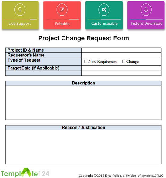 Change Request Template. Sample Change Order Request Template